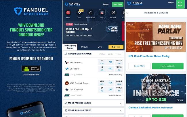 FanDuel Sportsbook Android app download