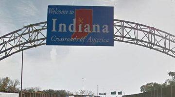Indiana Illinois border